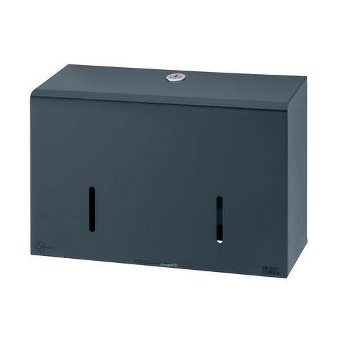 Dozownik na 2 rolki papieru toaletowego grafitowy podajnik stalowy na papier toaletowy marki Impeco
