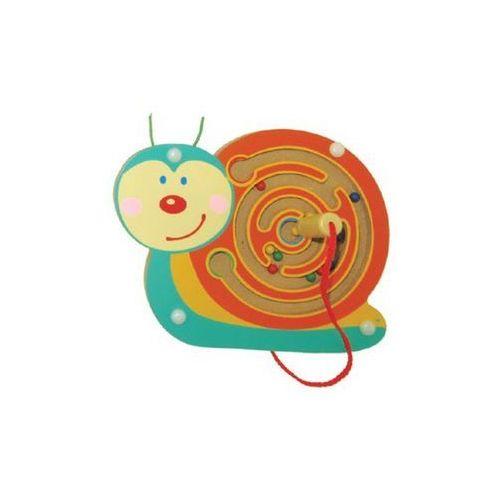 Drewniana zabawka magnetyczna Ślimak