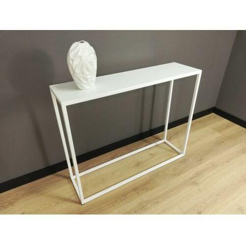 Industrialna minimalistyczna konsola MILO STEEL biała