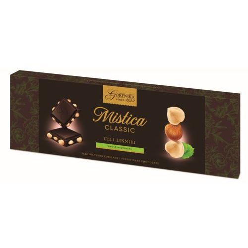 MISTICA czekolada gorzka z całymi orzechami laskowymi 250g (3838902403929)