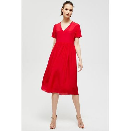 Czerwona, zwiewna sukienka z jedwabiu - marki Patrizia aryton