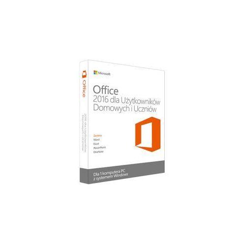 Microsoft office 2016 dla użytkowników domowych i uczniów (0885370989069)