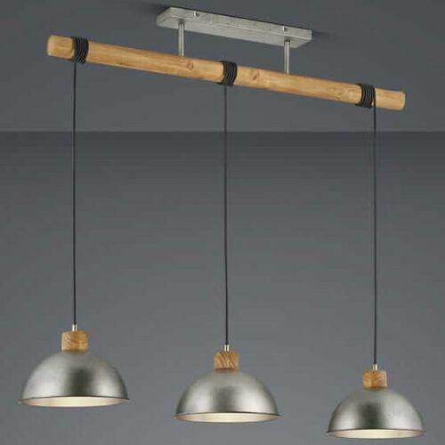 Trio Wisząca lampa industrialna delhi 303400367 loftowa oprawa kopuły zwis drewniana belka nikiel brązowa