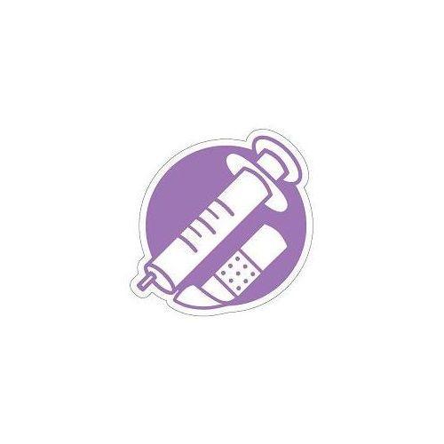 Piktogram na kosz do segregacji fioletowy- odpady medyczne marki Splast