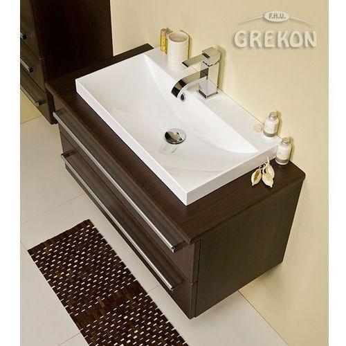 Szafka łazienkowa z umywalką 80/39/2/liz fokus wenge mat marki Gante