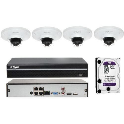 Dahua Zestaw do monitoringu na 4 kamery z obiektywem typu rybie oko