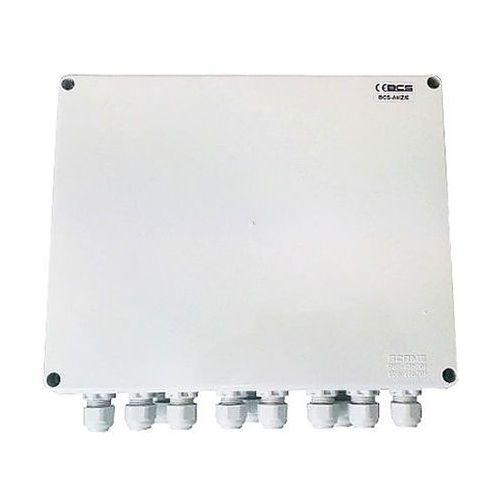 Bcs -a4/z/e zestaw zasilania dla 4 kamer analogowych w obudowie zewnętrznej bcs