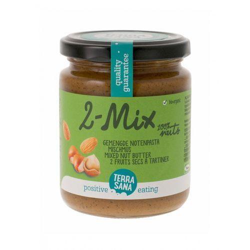 Krem orzechowy mix (2 orzechy) bio 250 g - terrasana marki Terrasana (ml. kokos, masła orz., syr. klon. inne