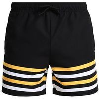 YOURTURN SPORT STRIPE Szorty kąpielowe black/yellow/white, kolor czarny