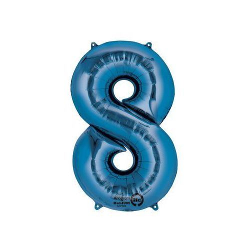 Balon foliowy cyfra 8 - 85 cm - 1 szt. (0026635282949) 513e439149081