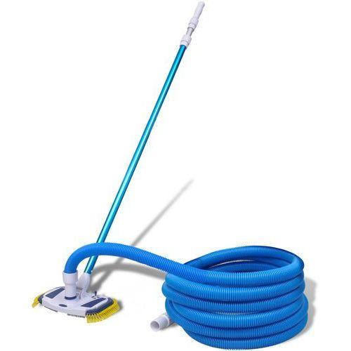 szczotka do czyszczenia basenu z wężem i teleskopową rączką wyprodukowany przez Vidaxl