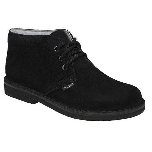 Nagaba Kultowe trzewiki buty 074 czarne - czarny