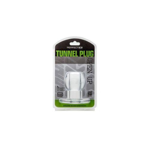 Perfect fit (usa) Ass tunnel plug silicone tpr medium (przeźroczysty), kategoria: wtyczki i korki analne