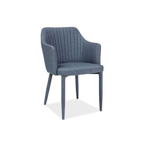 Krzesło - SIGNAL WELTON - grafit - materiał, kolor szary