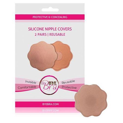 Bye bra Nakładki silikonowe na sutki - silicone nipple covers nude 2 pary byebra (8718801010044)