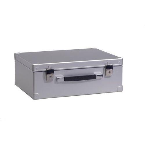 Zarges Walizka aluminiowa, poj. 28 l, zewn. dł. x szer. x wys. 480x380x175 mm, ciężar 2