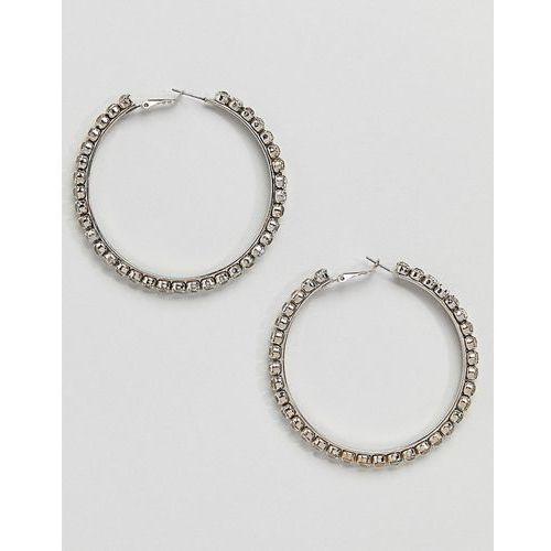 silver embellished hoop earrings - silver marki Aldo