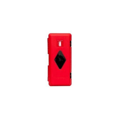 Szafka na gaśnice 4 kg i 6 kg PCV czerwona - z okienkiem, 1L 002