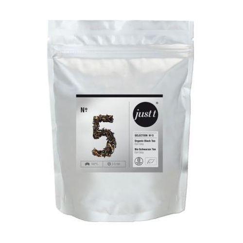 Herbata Just T No.5 Organic Black Tea Earl Grey- doypack 120g zapas, towar z kategorii: Czarna herbata