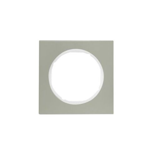BERKER R.3 Ramka 1-krotna, stal szlachetna/biały 10112214 - produkt z kategorii- Ramki do gniazd i włączników
