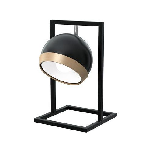 Milagro Oval Black MLP5474 lampka stołowa biurkowa 1x60W E27 czarny połysk / brązowy