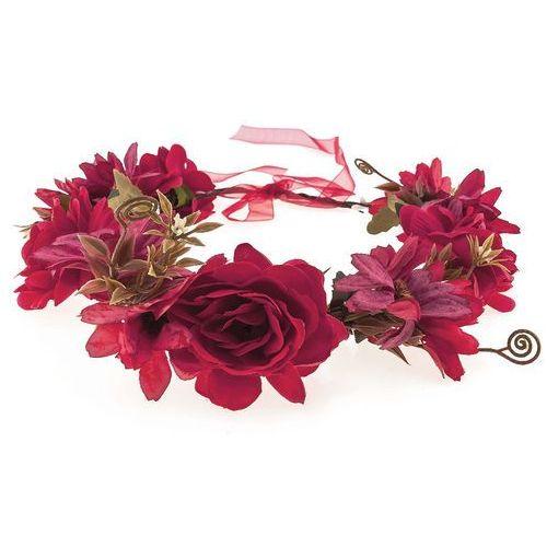 Wianek dużo kwiatów czerwień - CZERWIEŃ
