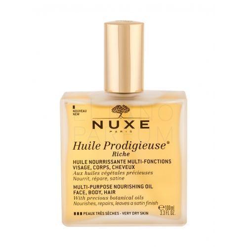 NUXE Huile Prodigieuse Riche Multi Purpose Dry Oil Face, Body, Hair olejek do ciała 100 ml dla kobiet (3264680009808)