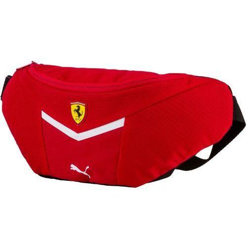 Puma  torba biodrowa ferrari fanwear waist bag rosso corsa-pu (4056207747473)