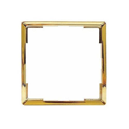 Polmark Ramka pojedyncza ozdobna złota do gniazd rosa