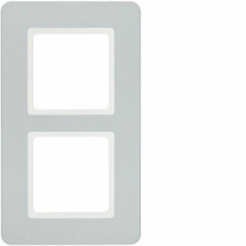 Ramka 2-krotna alu aksamit lakierowany Q.7 10126184 (4011334481089)