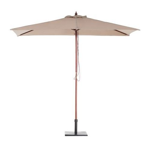 Beliani Parasol ogrodowy - piaskowy - 144 x 195 cm - drewniany - flamenco
