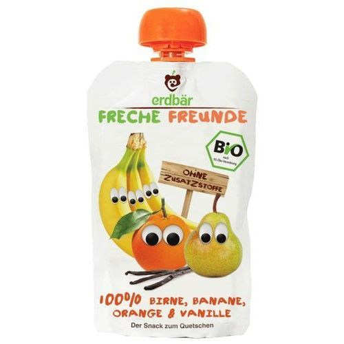 Mus Do Wyciskania Gruszka-Banan-Pomarańcza 100g EKO Erdbar Dla Dzieci (4260249140189)