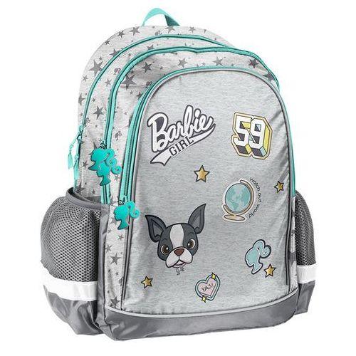 Plecak szkolny Barbie szary, kolor szary