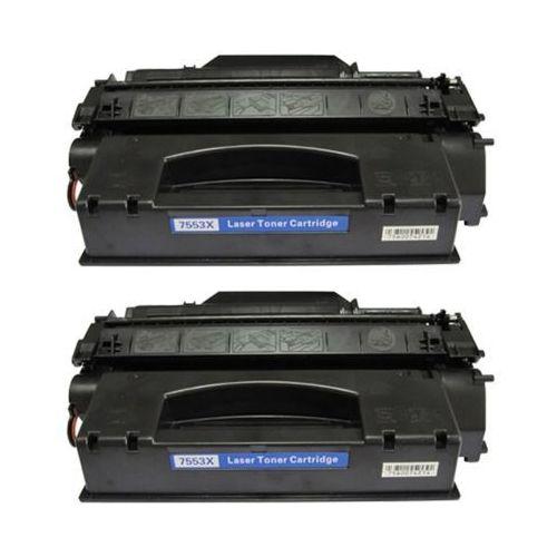 2 x Toner zamiennik HP 53X (Q7553X) Czarny