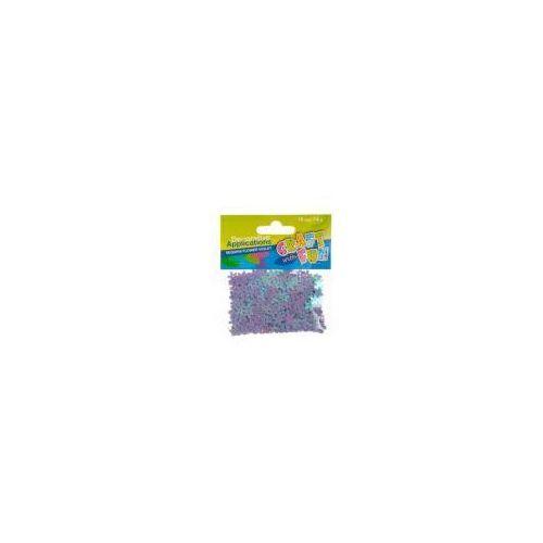 Cekiny metaliczne kwiaty fioletowe 10mm marki Craft with fun