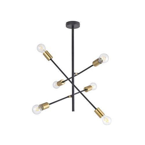 Lampa wisząca Rabalux Lanny 2104 6x15W E27 czarna/złota, 2104