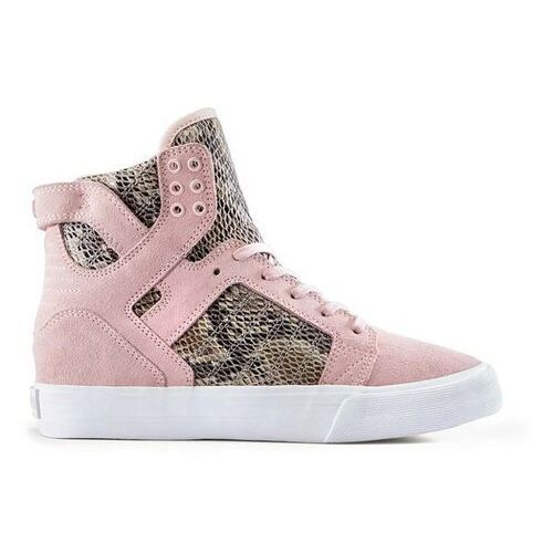 buty SUPRA - Womens Skytop Wedge Pink/Brown-White (PBR)