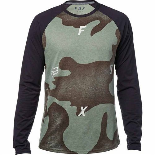 koszulka FOX - Conjoin Ls Tech Raglan Heather Dark Fatigue (183) rozmiar: 2X