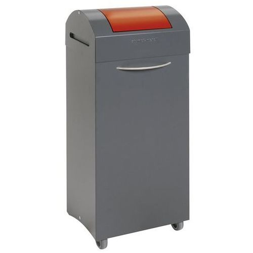 Pojemnik na surowce wtórne z blachy stalowej, gaszenie płomieni, poj. 75 l, wrzu marki Stumpf-metall