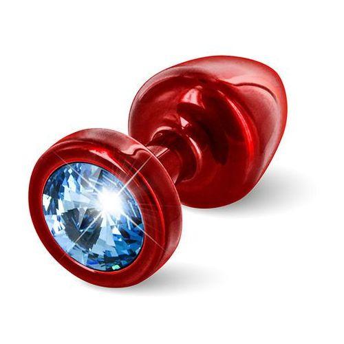 Diogol Plug analny ozdobny -  anni butt plug 25mm okrągły czerwony z niebieskim