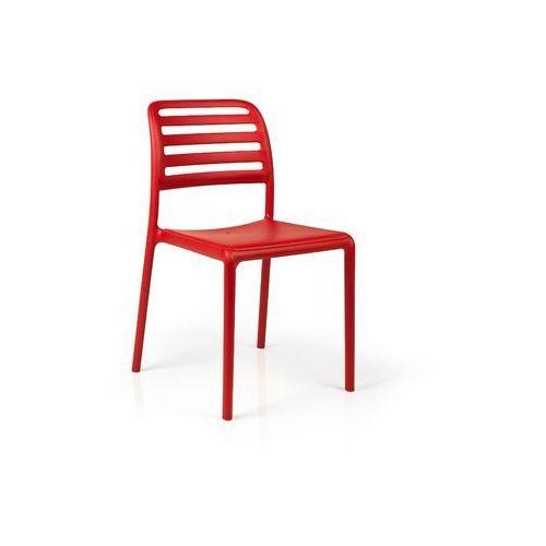 Krzesło Costa czerwone, kolor czerwony