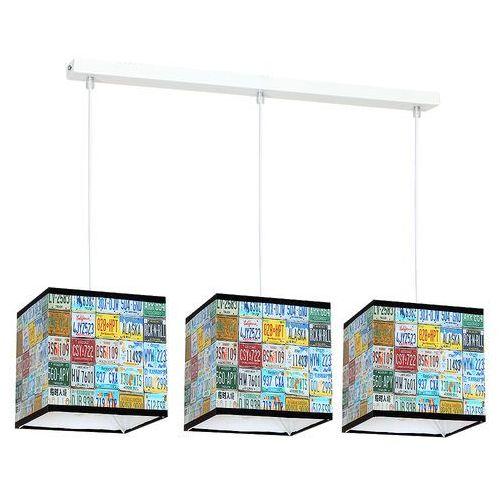 Lampa wisząca Luminex Kid Plate 8813 lampa sufitowa dziecięca 3x60W E27 biała / kolorowa