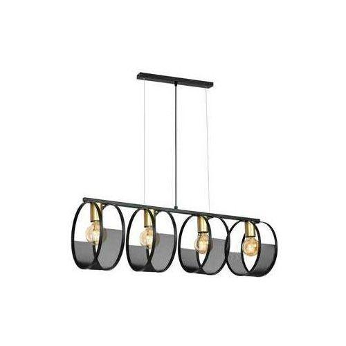 Luminex Siner 698 lampa wisząca zwis 4x60W E27 czarny złoty (5907812626983)