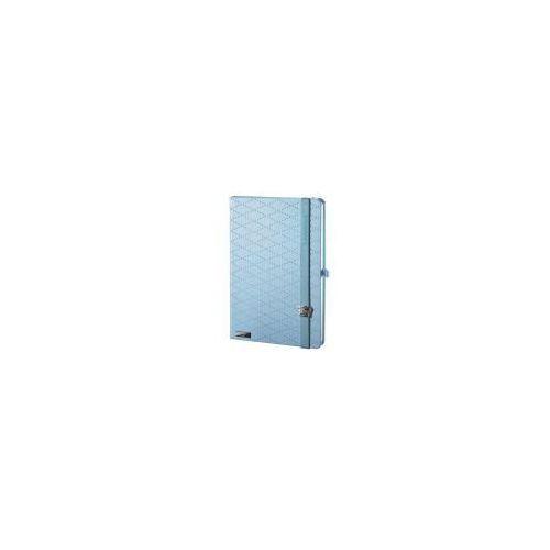 Notes A6 Lanybook Glamorous Beauty w linie niebieski (8057432194410)