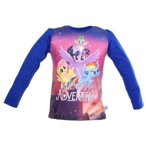 Bluzka dla dzieci z długim rękawem my little pony - kolorowy   granatowy marki Licencja - inne