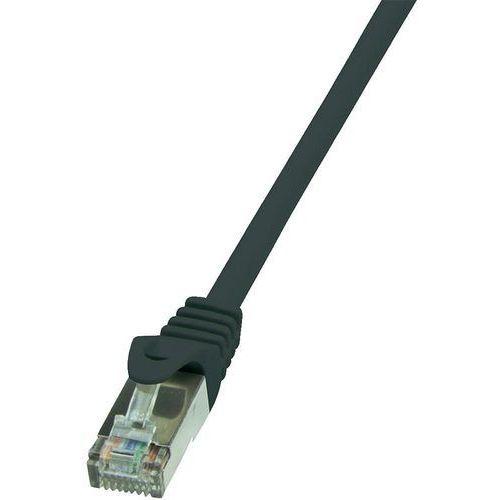 patchcord cat 6 f/utp econline 1m, czarny (cp2033s) marki Logilink