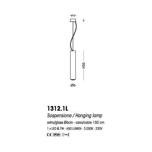 Cangini & Tucci Lampa wisząca Fuzzy - 1312.1L