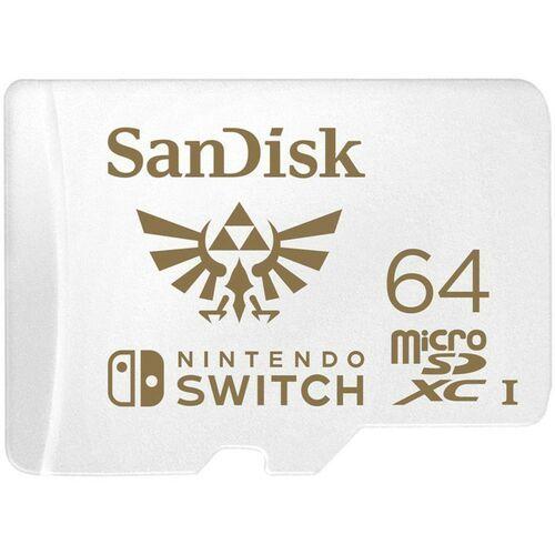 KARTA SANDISK NINTENDO SWITCH microSDXC 64 GB 100/60 MB/s V30 UHS-I U3