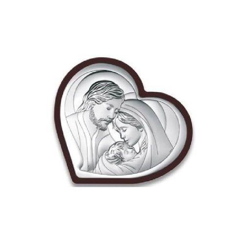 Obrazek święta rodzina serce w ciemnej oprawie- (bc#6432wm) marki Beltrami