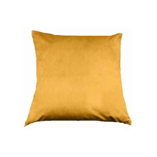 Poduszka welurowa tony żółta 45 x 45 cm marki Inspire